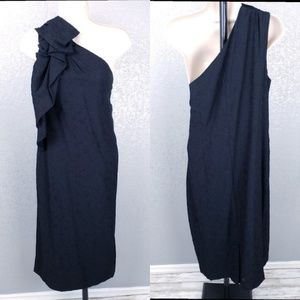 Banana Republic One Shoulder Bow Party Dress Size